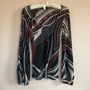 KAREN KANE GEOMETRIC DESIGN BLOUSE